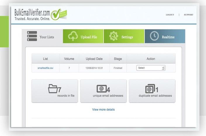 BEV Email Verifier Dashboard